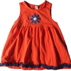 Other - Girls orange flower Mini bamba dress 3 months